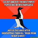 Doc told me to use disposable dishes for a while since my roomies share mine. - Imgur