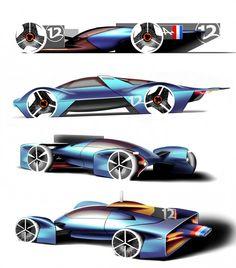 Alpine Vision Gran Turismo Concept Design Sketches by Joe Reeve