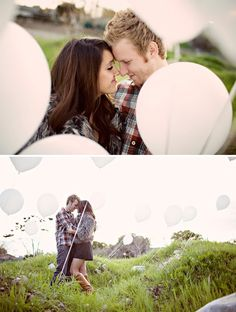 A Dreamy Engagement Session with Lots of Balloons... simplemente HER-MO-SO!...