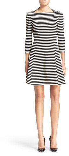 Kate Spade New York Stripe Fit & Flare Dress
