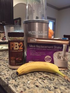 Great shake and 24 grams of protein! - 1 frozen banana, 1 tbsp PB2, 1 Advocare meal replacement shake