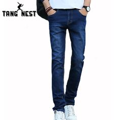 >> Click to Buy << TANGNEST Classic Jeans Men 2017 Spring Casual Men Jeans All-matched Necessary Straight Slim Jeans Male Solid Color MKN609 #Affiliate