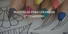 Cuaderno imprimible de mandalas para colorear. Dos cuadernos para descargar de mandalas para niños y adultos. Dibujos para colorear.