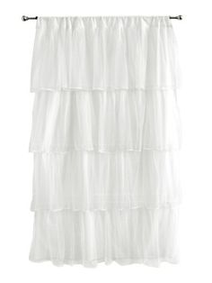 """$29.99-$34.99 Baby Tadpoles Multi-Layer Tulle Curtain Panel, White - Tadpoles Multi-Layer White Tulle Curtain PanelFour delicious layers of tulle cascade down this glamorously feminine window curtain panel. Available in pink and white. Rod pocket design. 42"""" wide x 63"""" drop. Machine washable. http://www.amazon.com/dp/B001708BNU/?tag=pin2baby-20"""