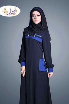Abaya Muslim Dress, Hijab Dress, Blue Abaya, Abaya Pattern, Modele Hijab, Eid Dresses, Abaya Designs, Hijab Chic, Islamic Clothing