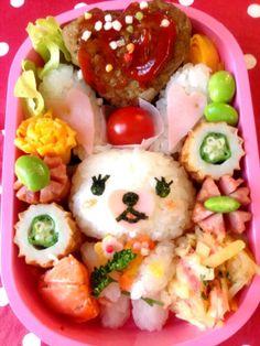 kyaraben bento Bento Kids, Bento Box Lunch, Cute Food, Good Food, Yummy Food, Tasty, Kawaii Bento, Kids Meals, Food And Drink