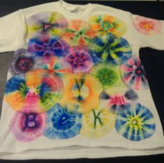 Made these awesome Sharpie tie dye t-shirts. So much fun!!