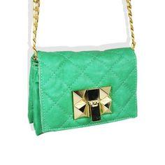 Quilted Fashion Side Purse Mint - Wholesale Handbag Shop