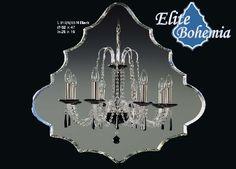 Ośmioramienny żyrandol kryształowy czarny Light Style