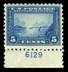 Scott# 403, 1915 5c Blue, PSE VF 80, Mint OGnh. http://www.collectorscorner.com/Products/Item.aspx?id=15960758. #Scott #PSE #VeryFine #Mint #OGNH #Original #Gum #NeverHinged #Philately #Collector #Beautiful #Blue #Stamp #Online #Collectibles #Marketplace #Antique #Vintage #Rare