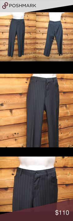 """Men's Dolce and Gabbana 100% Wool Striped  Pants Men's Dolce and Gabbana 100% Wool Striped Dress Pants  *Excellent condition.  Details: Dolce and Gabbana Size: IT 50 US 34 X 29 Color: Blue Striped Front button/zip closure Two front, slant pockets Two rear button pockets Unlined 100% Wool Made in Italy  Measurements: Waist: 34"""" Inseam: 29"""" Leg Opening: 9"""" Dolce & Gabbana Pants Dress"""