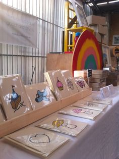 My Market stall at the Rose St Artists Market in Fitzroy!