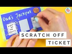Father's Day Gift Card - How to Make DIY Scratch off Card & Lottery Ticket - Easy Kids Paper Crafts - YouTube