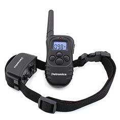 Petronics 330 Yards Rechargeable Shock Training Collar with Remote, Electronic Dog Training Collar for Large Dog with Static Shock, Vibration, Beep and Light - dog