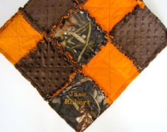 duck hunting diaper bags | Realtree Max 4 Camo Rag Quilt Blank et with Minky Backing ...
