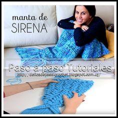 """Delicadezas en crochet Gabriela: Cobertores """"Sirena"""""""