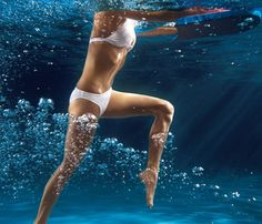 Water exercises: Dive in!:Drop a size in two weeks with our refreshing water workout.