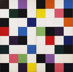 """Colors for a Large Wall  Ellsworth Kelly (American, born 1923)    1951. Oil on canvas, sixty-four panels, 7' 10 1/2"""" x 7' 10 1/2"""" (240 x 240 cm). Gift of the artist. © 2012 Ellsworth Kelly"""
