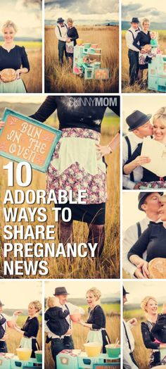 Unique ways to announce you are pregnant.