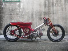 Yea been checking out the mad cub/c70/c90 Hondas on the Chalopy site . The red one apparently from AFS custom bikes , again go to the Chalop...