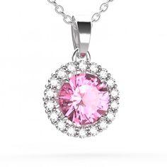 Pendentif YORK Argent, Tourmaline et Diamants - Maison Gemmyo