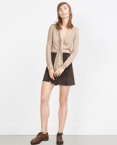Image 1 of SWEATER WITH TIE DETAIL from Zara