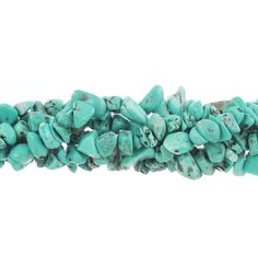 Blue Turquoise Chip Strand, 36 Inches