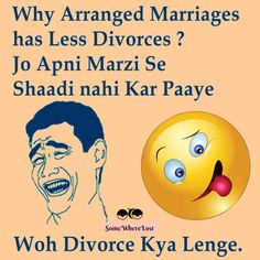 Why arranged marriages has less Divorces? :D