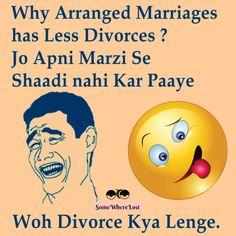 Why arranged marriages has less Divorces? :D
