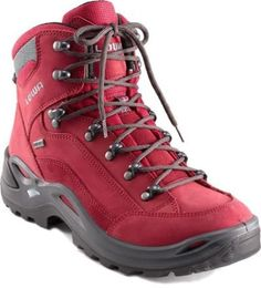 Now I need new hiking boots! I didn't before I saw these Lowa Renegade GTX Mid Hiking Boots - Women's - *I love the red! Hiking Gear, Hiking Backpack, Camping Gear, Top Shoes, Me Too Shoes, Trekking, Best Hiking Shoes, Hiking Boots Women, Shoe Boots