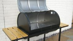 Oil Drum BBQ / Smoker Ideal for the real BBQ fanatic in Garden & Patio, Barbecuing & Outdoor Heating, Barbecues   eBay!