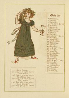 October - Kate Greenaway's Almanack for 1885