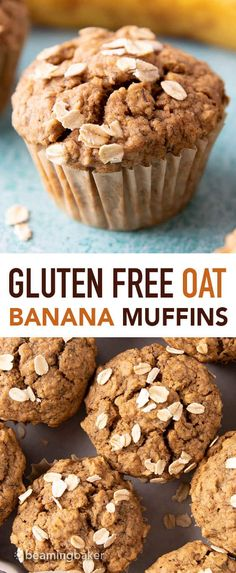 Healthy Snacks : Gluten Free Banana Oat Muffins (Vegan) – Beaming Baker – Healthy & Lifestyle : Explore & Discover the best and the most trending Healthy Tips, Ideas & Inspiration Oat Muffins Healthy, Banana Oatmeal Muffins, Banana Oats, Oat Flour Muffins, Healthy Snacks, Brownies, Granola, Photo Food, Gluten Free Banana