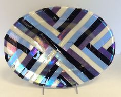 fused glass platter or serving dish by JenErinDesigns on Etsy https://www.etsy.com/listing/204625535/fused-glass-platter-or-serving-dish