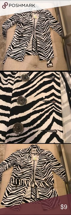NET Zebra print jacket NWT. Size small. Purchased from Stein Mart. Jackets & Coats Utility Jackets