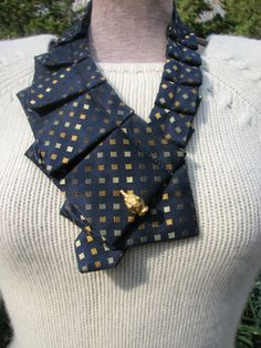 Silk Necktie Collar  Silk Necktie  Necklace  Unique by TieTandem