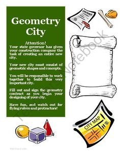 lesson plan geometry city creative project activity and worksheets common core math standards geometry mathematical processesthis zipped f