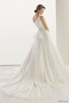 rosa clara wedding dresses 2013 two dedalo one shoulder gown