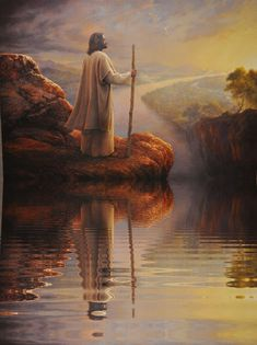 Yea, though I walk through the valley of the shadow of death, I will fear no evil: for thou art with me; thy rod and thy staff they comfort me. Images Du Christ, Pictures Of Jesus Christ, Religious Pictures, Religious Art, Jesus Our Savior, Jesus Is Lord, Christian Images, Christian Art, Image Jesus