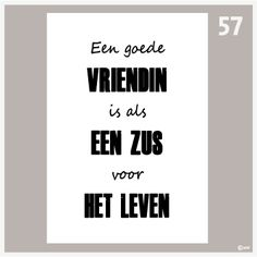 Text poster A good friend- Tekstposter Een goede vriendin Text poster A good friend - Words For Girlfriend, Text Poster, Cool Words, Qoutes, Texts, Friendship, Best Friends, Love You, Romance