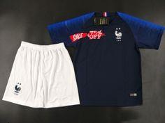 2018 World Cup Youth Kit France 2 Stars Home Replica Navy Kid Suit   CFC529 . Soccer GearSoccer JerseysCheap ... 9485d3d58