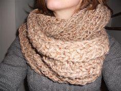 Breien MET haken en ogen: Patroon voor een ronde sjaal 5