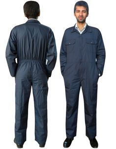 Boiler Suit Coverall Overall Workwear Mechanics Work Suit Navy Blue S to XXXL | eBay