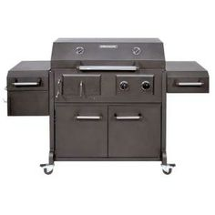 Brinkmann Triple Function Propane Gas / Charcoal Grill and Smoker-810-3830-S at The Home Depot