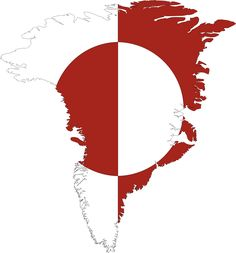 Flag of Greenland carved into the map. Description from openclipart.org. I searched for this on bing.com/images