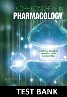 Test bank for principles of human physiology 5th edition by core concepts in pharmacology 4th edition test bank fandeluxe