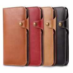 For iPhone 7 7Plus 6 6S Plus 5 5S SE PU leather case fastener Flip wallet card slot mobile phone cases