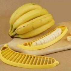 Kitchen Gadgets Plastic Banana Slicer Cutter Fruit Vegetable Tools Salad Maker for sale online Banana Cutter, Salad Maker, Food And Beverage Industry, Kitchen Helper, Kitchen Tools And Gadgets, Kitchen Styling, Cool Gadgets, Fruit Salad, Cool Kitchens
