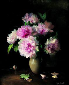 Soviet Russian artist Sergei Tutunov. Wild flowers.