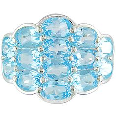 Blue Topaz and Silver #Ring